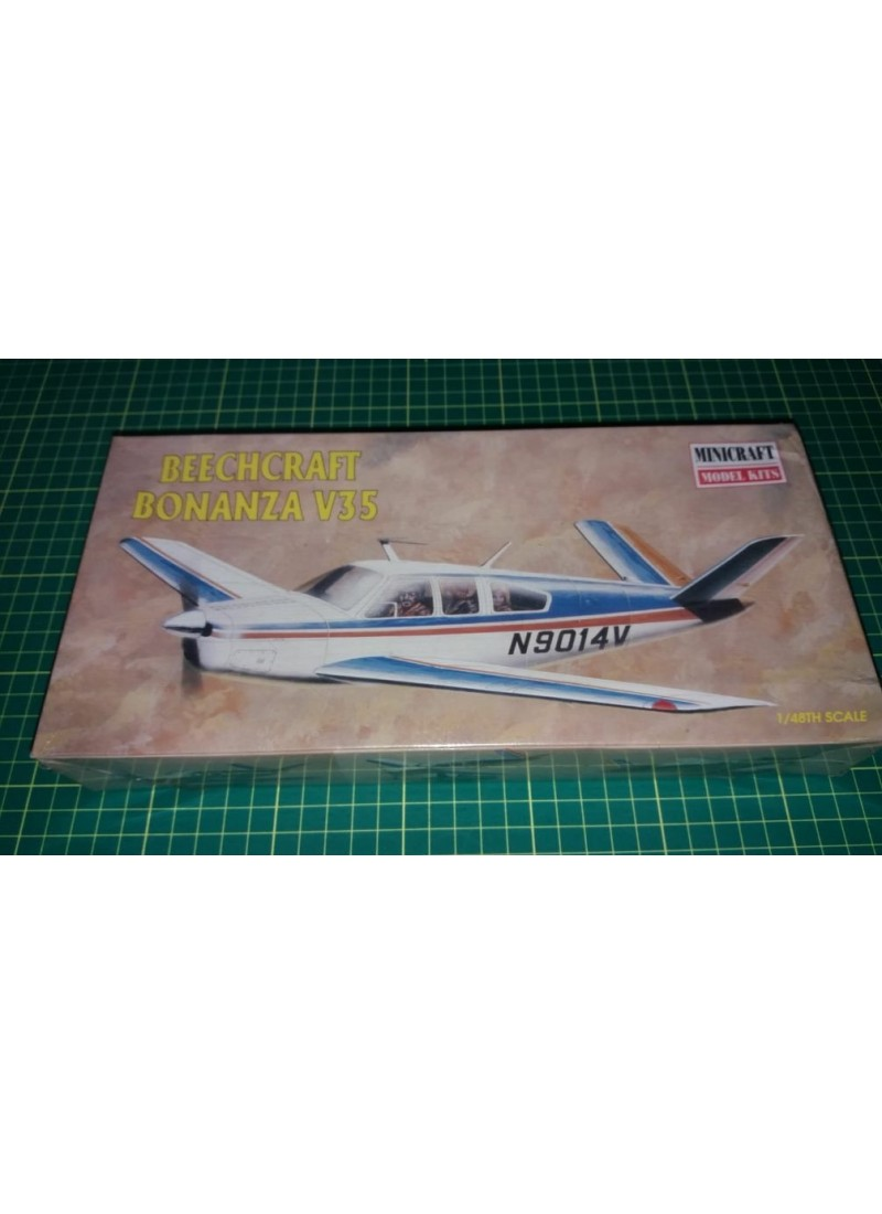 "aeroplano 1/48 Turismo Beechcraft Bonanza ""Academy-Minicraft"""