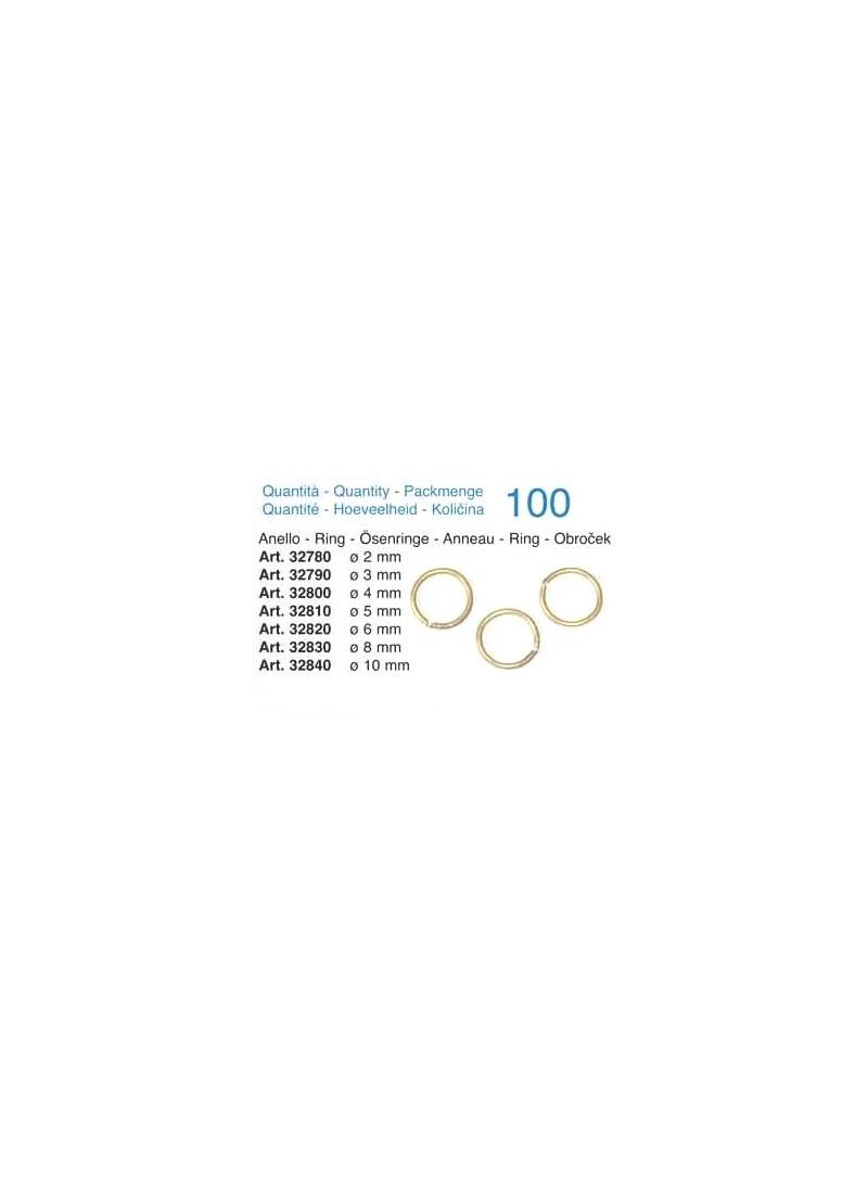 Anello in ottone mm 4 - Quantità 100