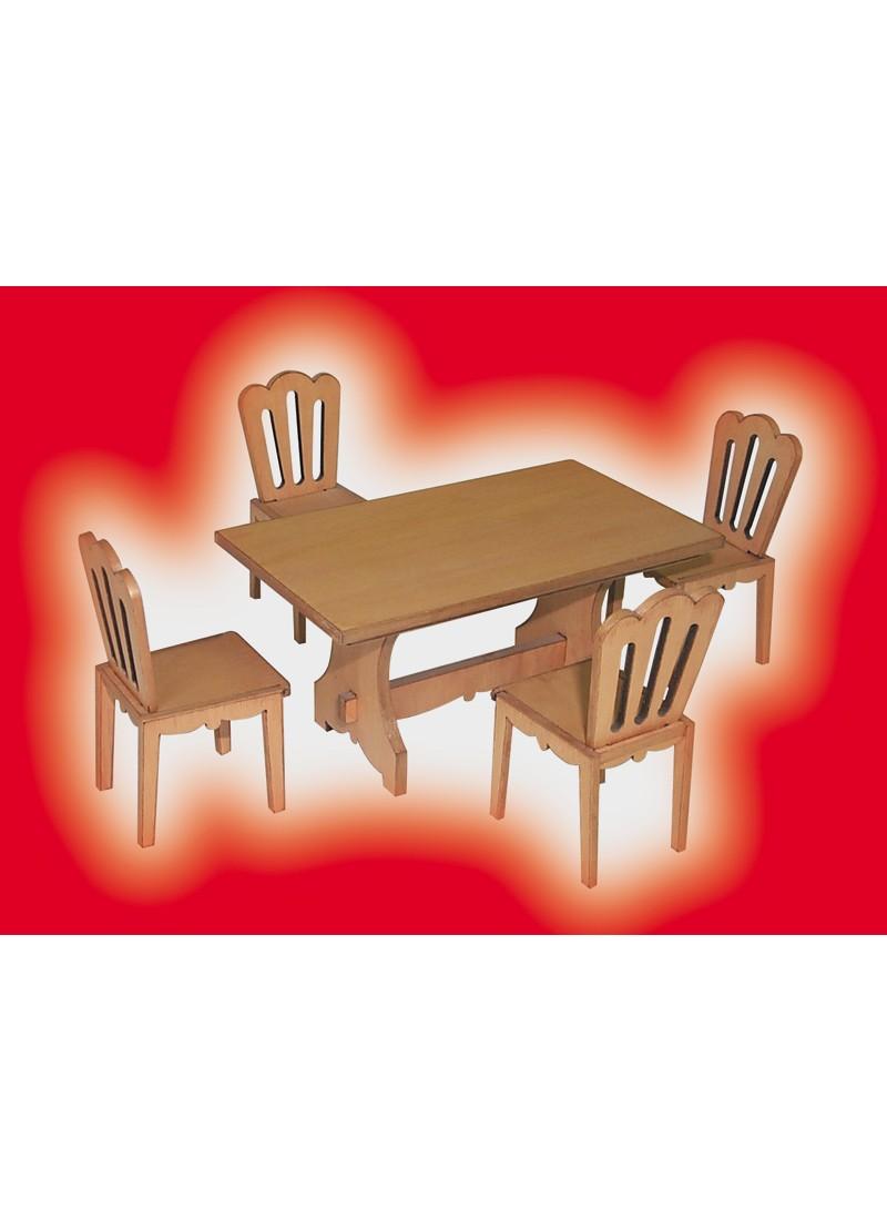 Tavolo e 4 sedie