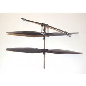 Vision coppia pale rotore principale con asse