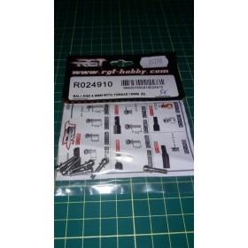 Uniball 4.9 mm filetto 10 mm