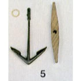Ancora con ceppo mm 40x62 - Quantità 2