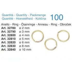 Anello in ottone mm 10 - Quantità 100