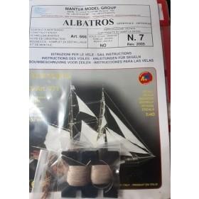 Albatros kit n› 7 opzionale piano velico vele e accessori