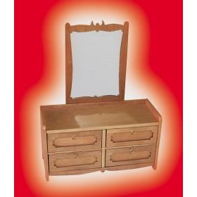 Specchiera a 4 cassetti